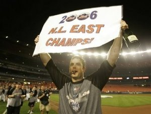 Wright 2006 NL East Champs (AP Photo - Kathy Willens)