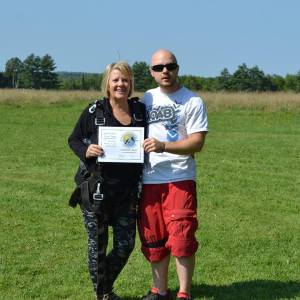 My grandmother went skydiving in celebration of her 60th birthday.